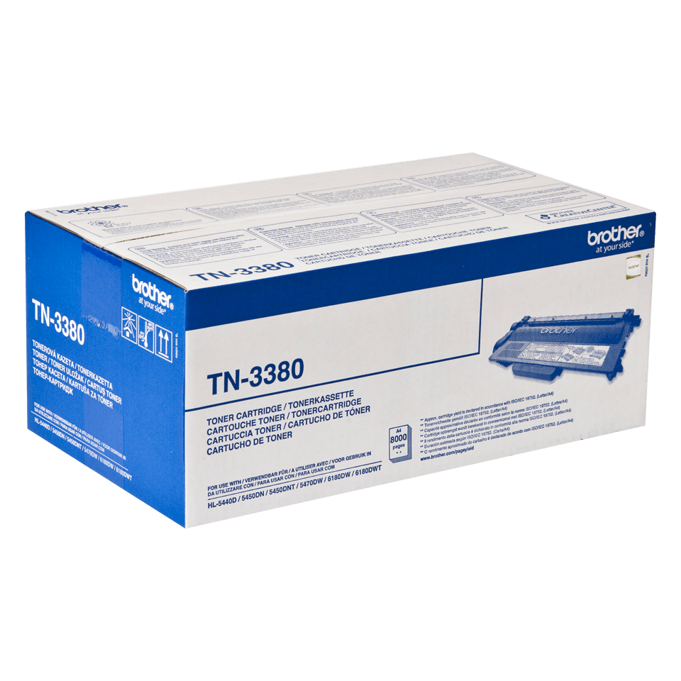Cartuș de toner negru de capacitate mare original Brother TN-3380 2