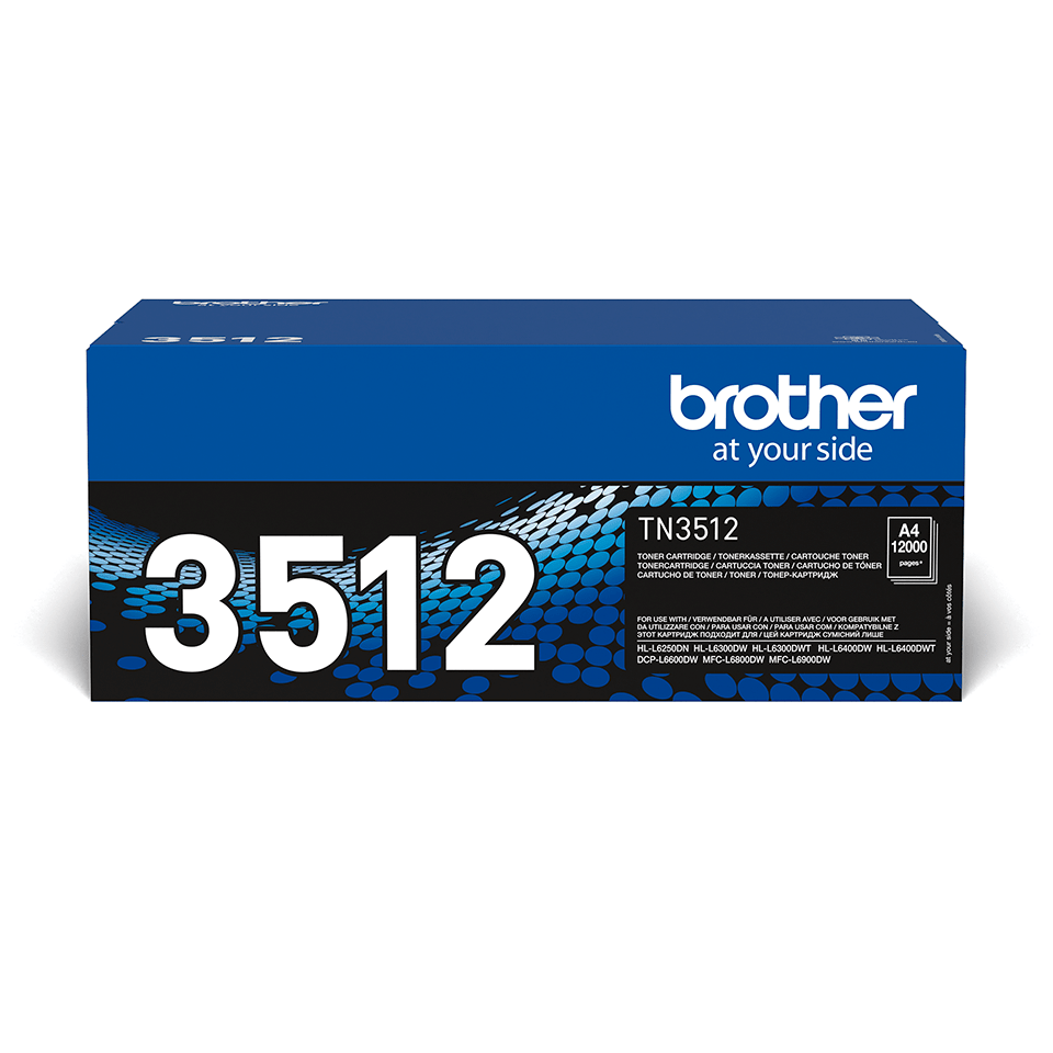 Cartuș de toner negru de capacitate mare original Brother TN-3512