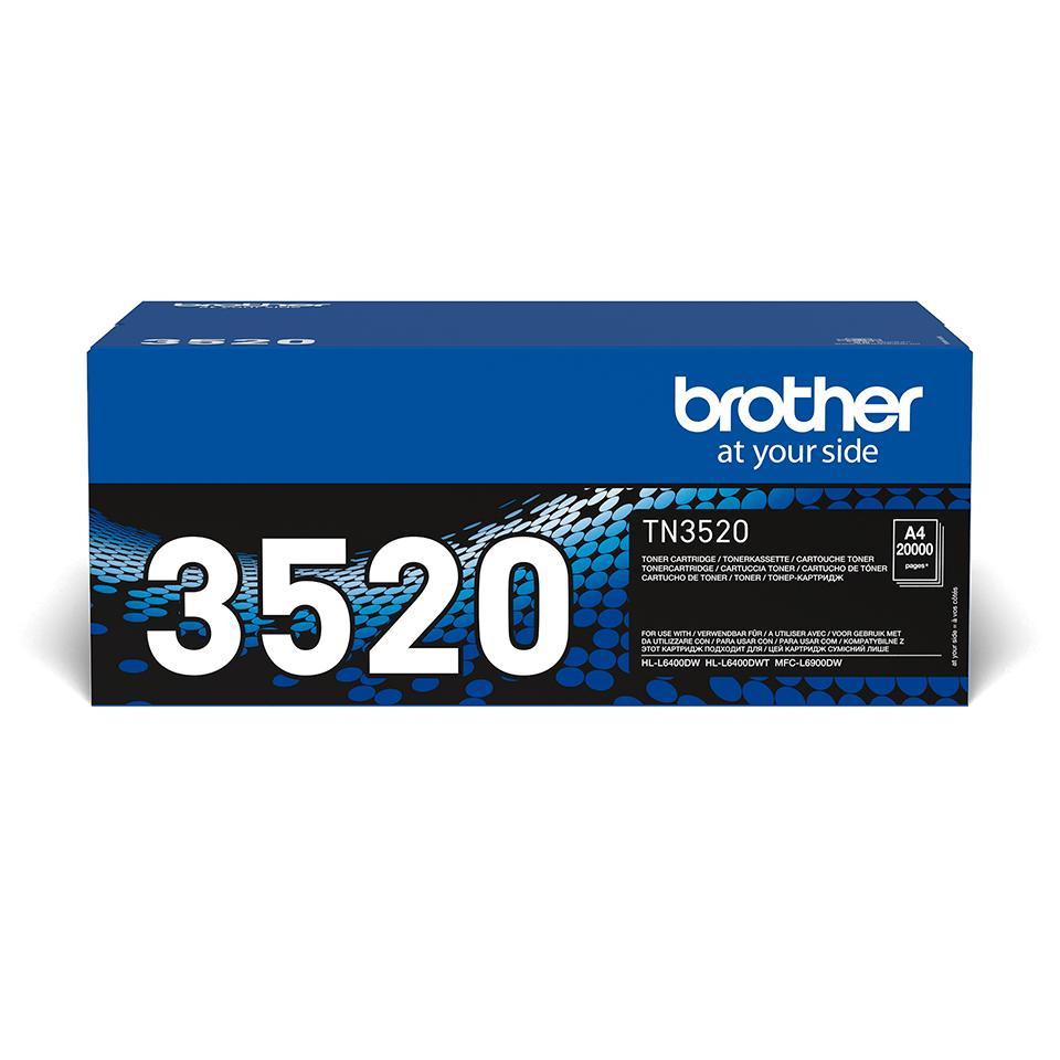 Cartuș de toner negru Ultra High Yield original Brother TN-3520