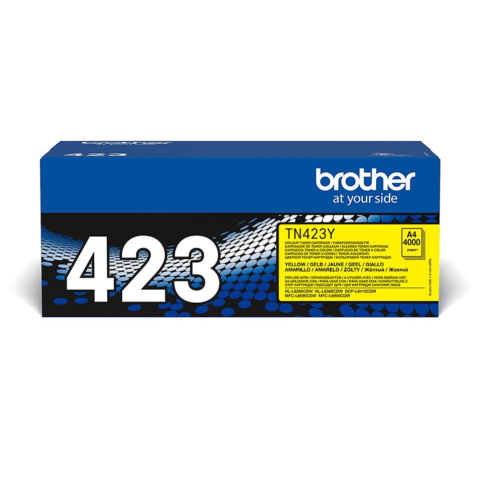 Cartuș de toner original Brother TN423Y – galben