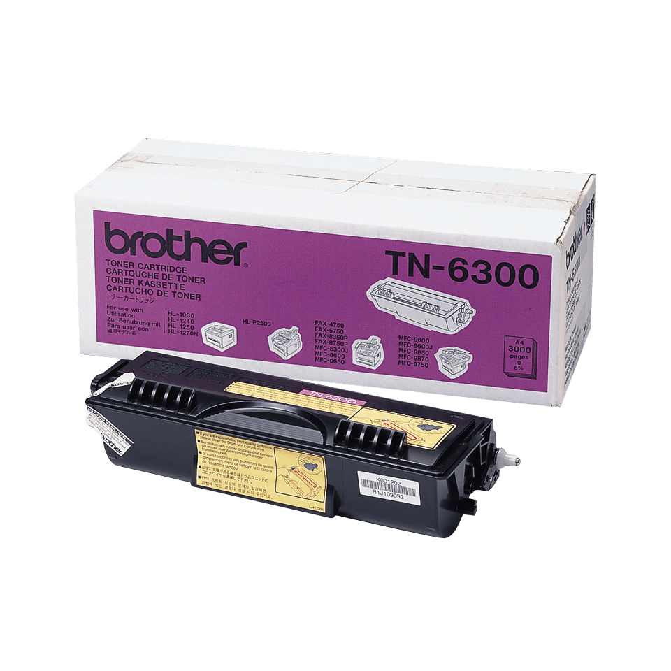 Cartuș de toner original Brother TN6300 de capacitate mare – negru