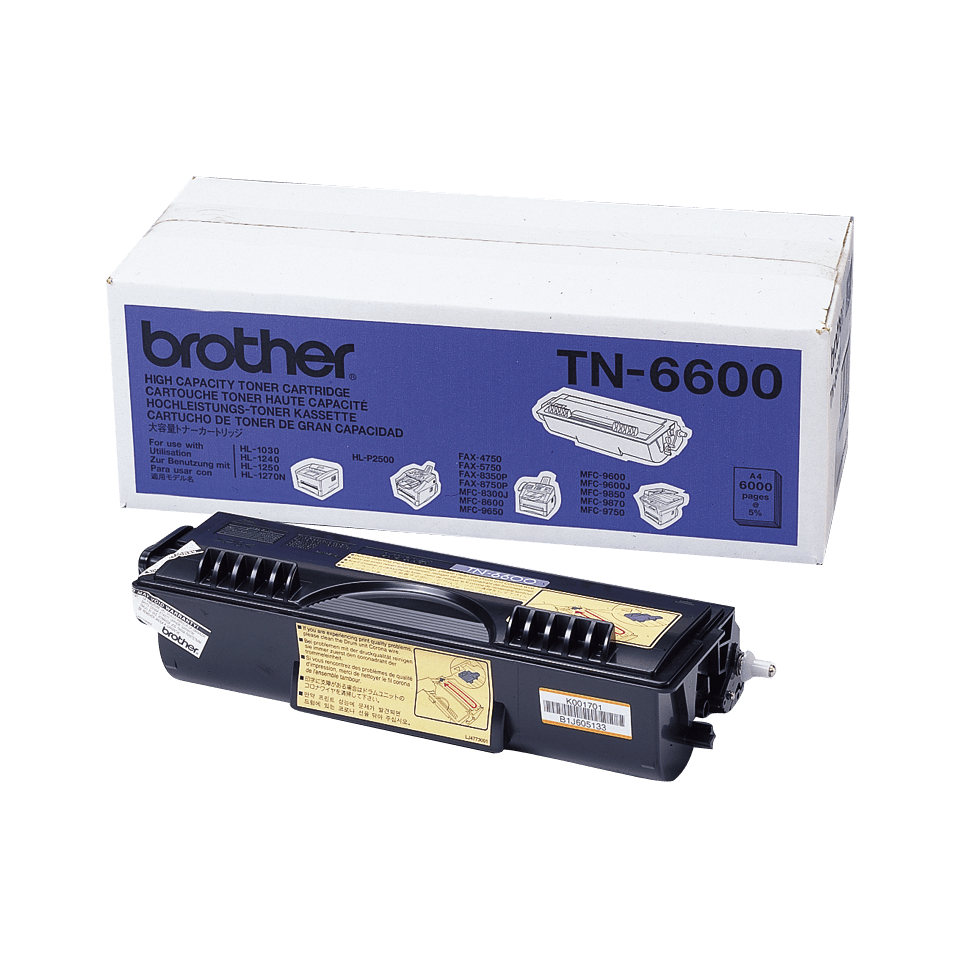 Cartuș de toner original Brother TN6600 de capacitate mare – negru
