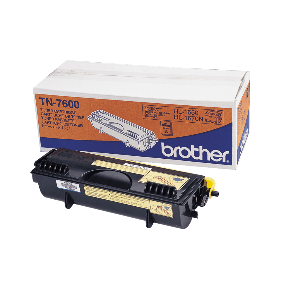 Cartuș de toner original Brother TN7600 de capacitate mare – negru