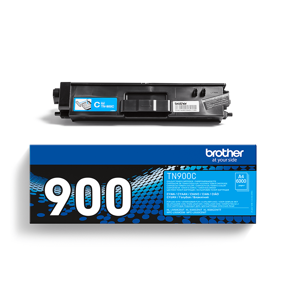 Cartuș de toner original Brother TN900C – cyan 2