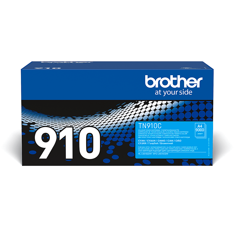 Cartuș de toner original Brother TN910C – cyan