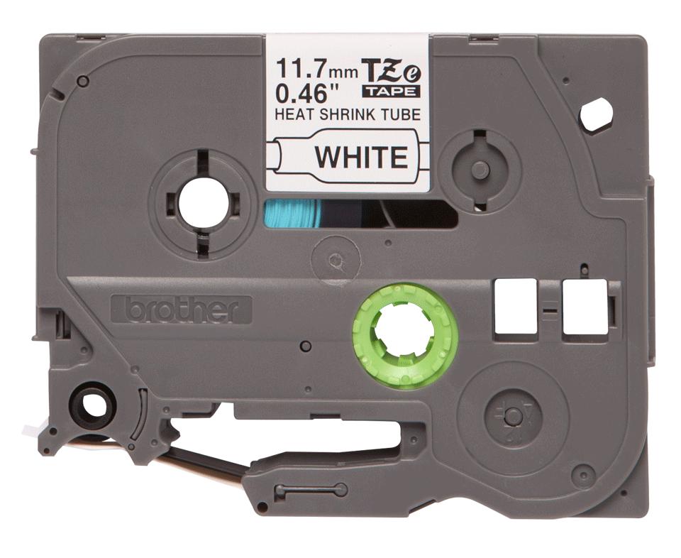 Casetă cu bandă termocontractabilă originală Brother HSe-231 – negru pe alb, lățime de 11,7mm