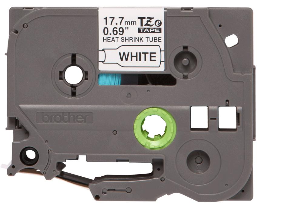 Casetă cu bandă de etichete termocontractabilă originală Brother HSe-241 – negru pe alb, lățime de 17,7mm