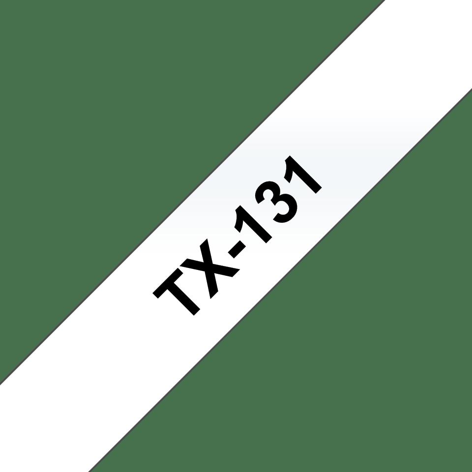 Casetă cu bandă de etichete originală Brother TX131 – negru pe transparent de 12 mm lățime