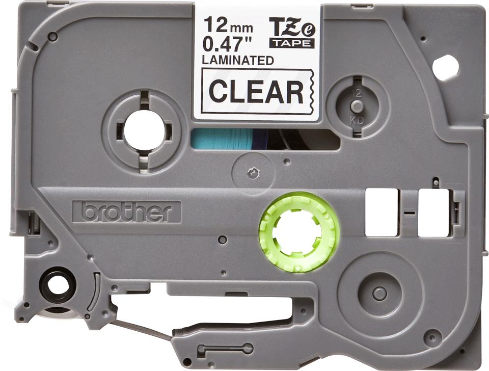 Bandă de etichete negru pe transparent Brother TZe-131 – 12mm lățime
