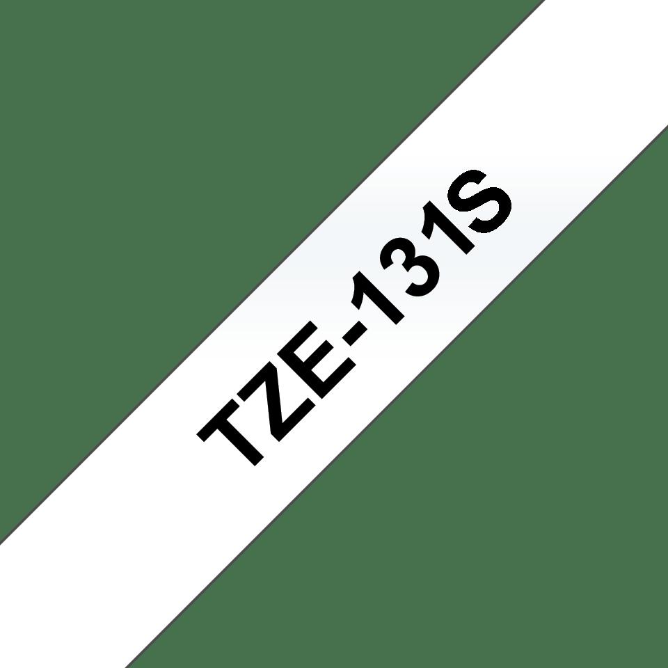 Casetă cu bandă de etichete originală Brother TZe-131S – negru pe transparent de 12 mm lățime 3