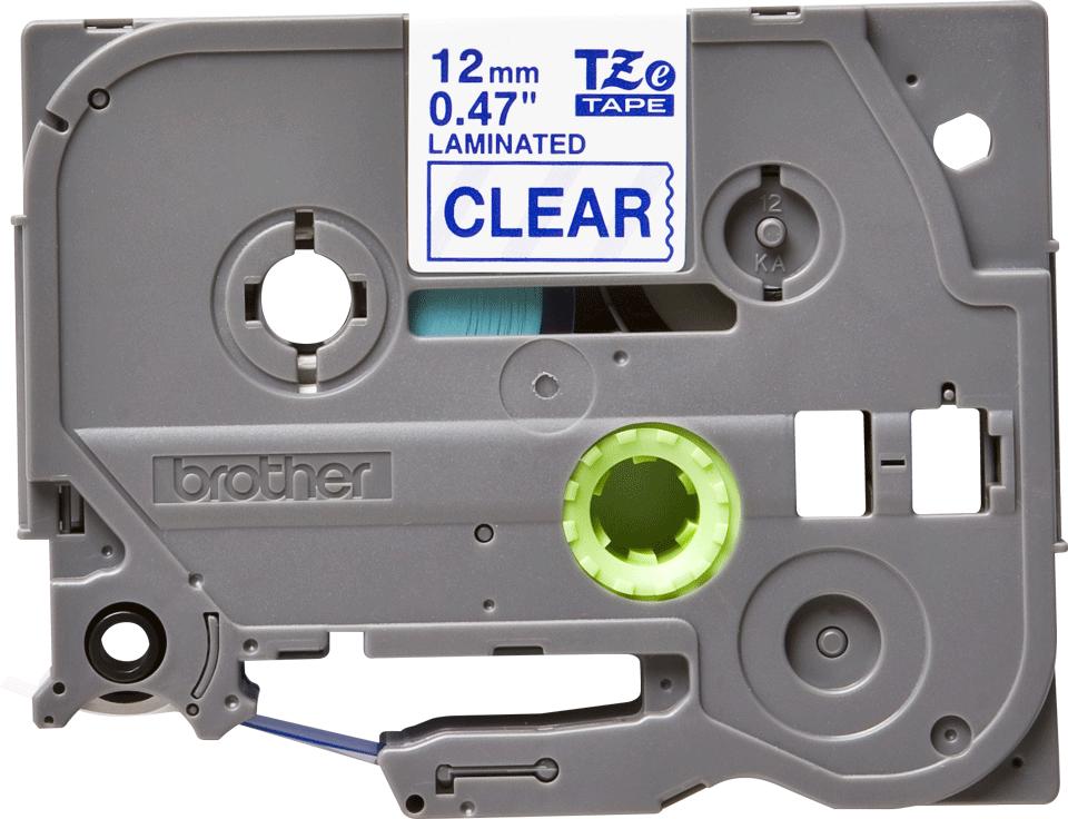 Casetă cu bandă de etichete originală Brother TZe-133 – albastru pe transparent, lățime de 12mm 2