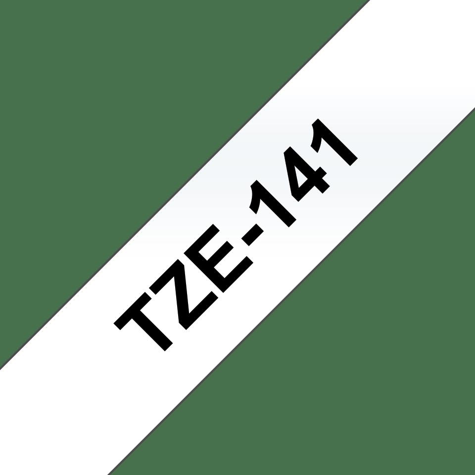Casetă cu bandă de etichete originală Brother TZe-141 – negru pe transparent, 18mm lățime 3