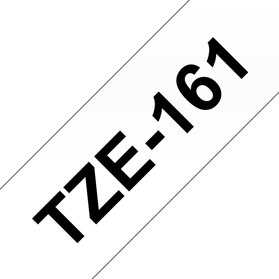 Casetă cu bandă de etichete originală Brother TZe-161 – negru pe transparent, lățime de 36mm 3