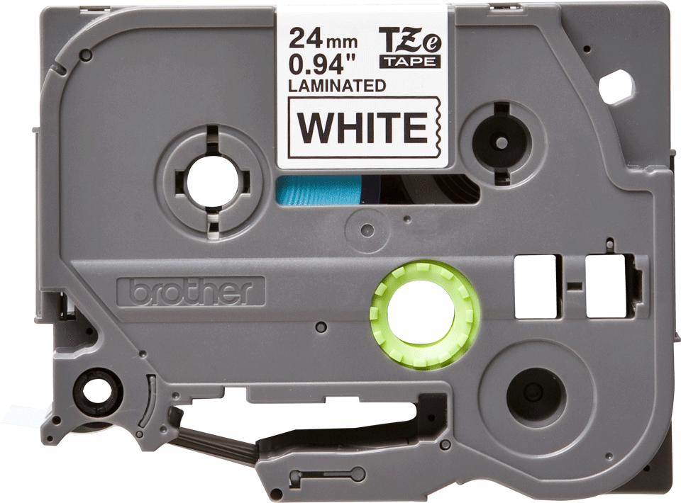 Casetă cu bandă de etichete originală Brother TZe-251 – negru pe alb, 24mm lățime