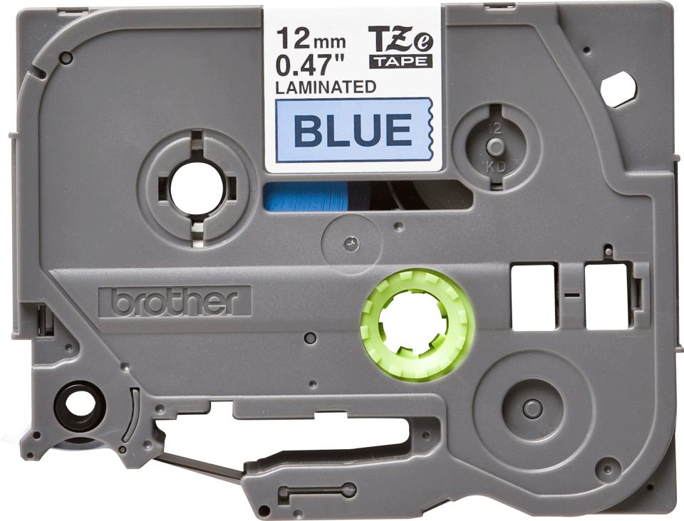 Casetă cu bandă de etichete originală Brother TZe-531 – negru pe albastru, 12mm lățime
