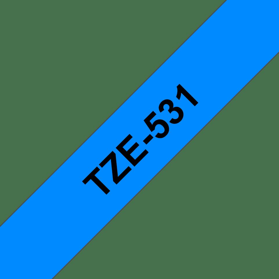 Casetă cu bandă de etichete originală Brother TZe-531 – negru pe albastru, 12mm lățime 3