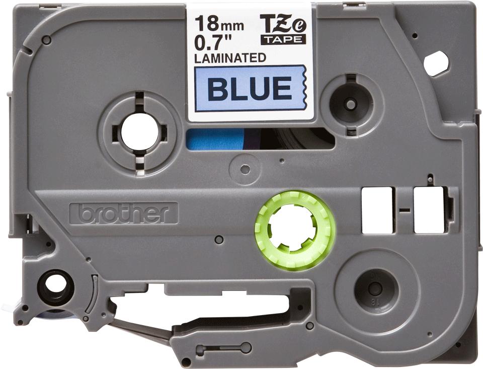 Casetă cu bandă de etichete originală Brother TZe-541 – negru pe albastru, lățime de 18mm