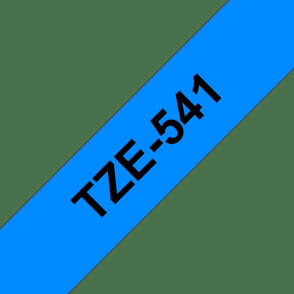 Casetă cu bandă de etichete originală Brother TZe-541 – negru pe albastru, lățime de 18mm 3