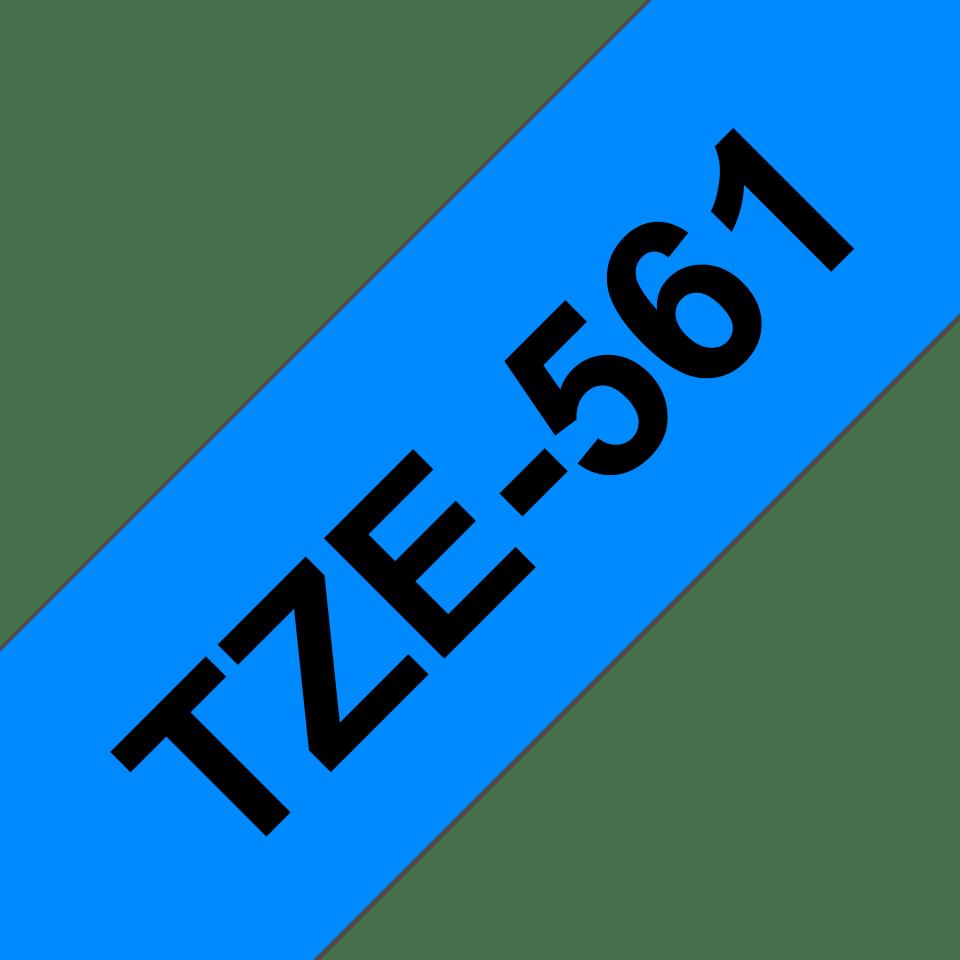 Casetă cu bandă de etichete originală Brother TZe-561 – negru pe albastru, lățime de 36mm 3