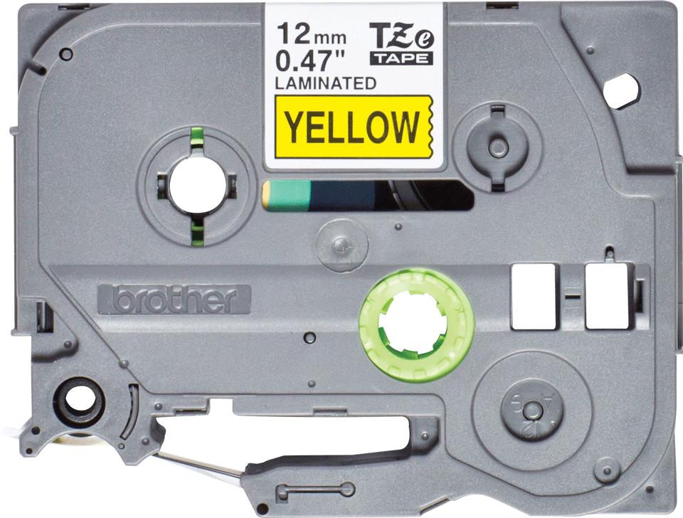 Casetă cu bandă de etichete originală Brother TZe-631S – negru pe galben de 12 mm lățime 2