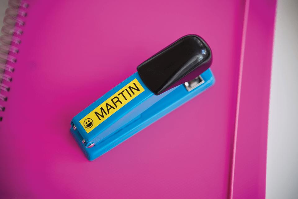 Casetă cu bandă de etichete originală Brother TZe-641 – negru pe galben, 18mm lățime 4
