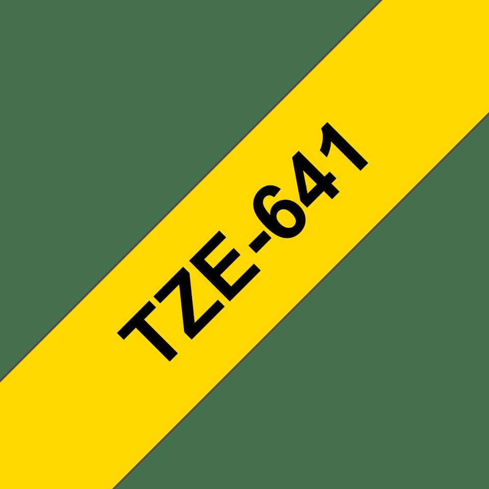 Casetă cu bandă de etichete originală Brother TZe-641 – negru pe galben, 18mm lățime 3