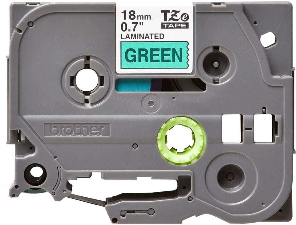 Casetă cu bandă de etichete originală Brother TZe-741 – negru pe verde, lățime de 18mm 2