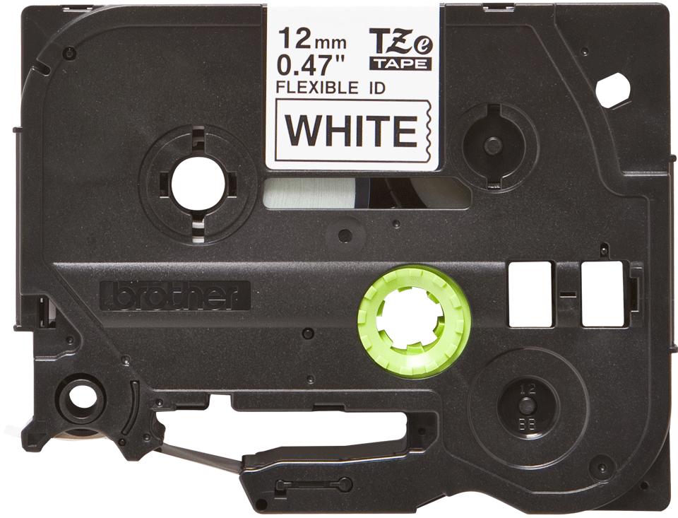 Casetă cu bandă de etichete originală Brother TZe-FX231 – negru pe alb flexibilă ID, lățime de 12mm