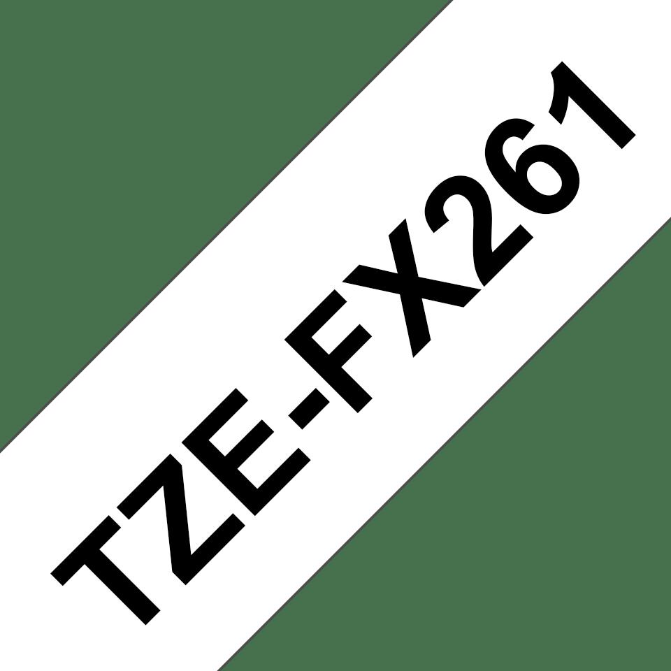 Casetă cu bandă de etichete originală Brother TZe-FX261 – negru pe alb flexibilă ID, lățime de 36mm