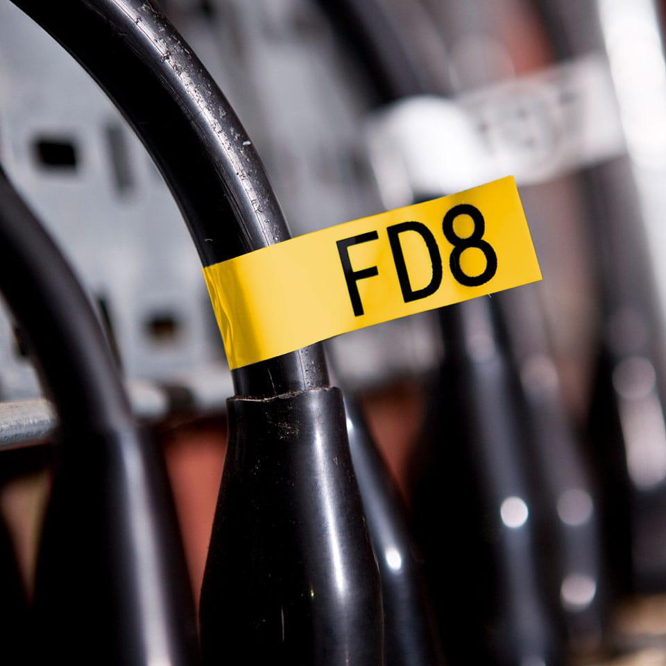 Bandă de etichete originală Brother TZe-FX651 – negru pe galben flexibilă ID, lățime de 24mm 4