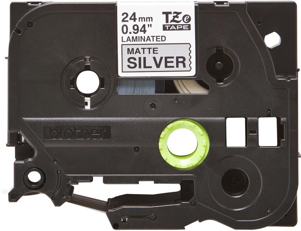 Casetă cu bandă de etichete originală Brother TZe-M951 – negru pe gri mată, lățime de 24mm 2