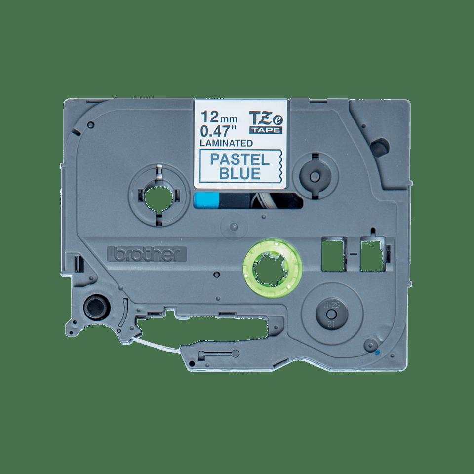 Casetă cu bandă de etichete originală Brother TZe-MQ531 – negru pe albastru pastel, lățime de 12mm