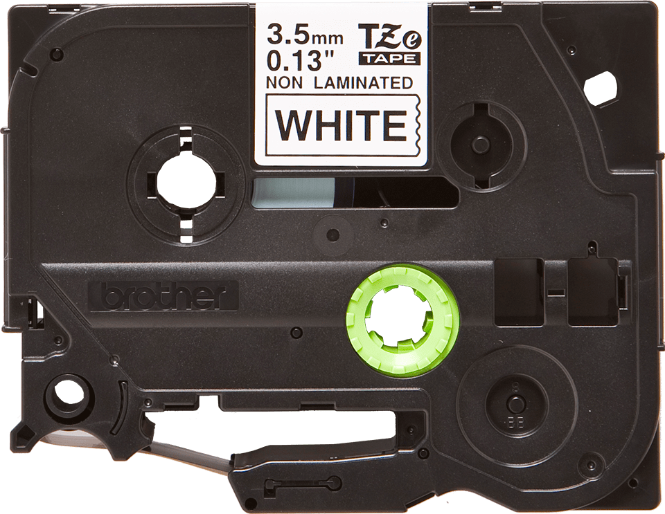 Casetă cu bandă de etichete originală Brother TZe-N201 – negru pe alb, lățime de 3,5mm 2