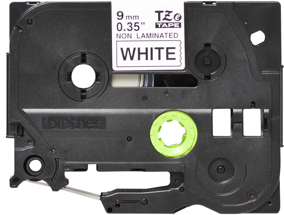 Casetă cu bandă de etichete originală Brother TZe-N221 – negru pe alb, lățime de 9mm 2