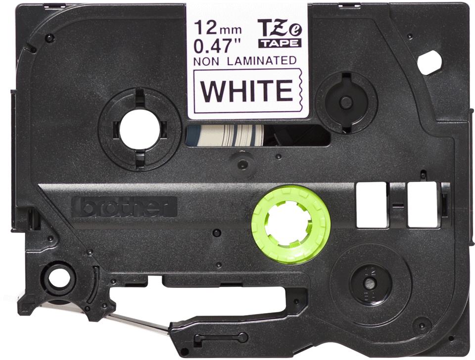 Casetă cu bandă de etichete originală Brother TZe-N231 – negru pe alb, lățime de 12mm