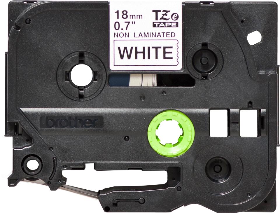 Casetă cu bandă de etichete originală Brother TZe-N241 – negru pe alb, lățime de 18mm