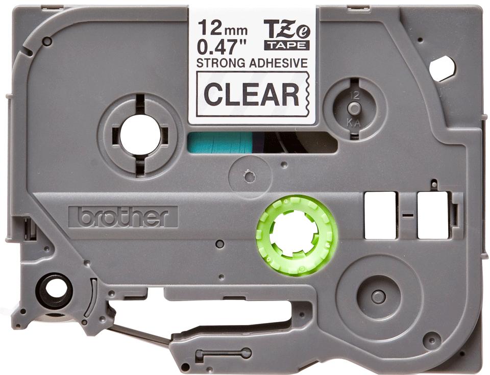 Casetă cu bandă de etichete originală Brother TZe-S131 – negru pe transparent, lățime de 12mm