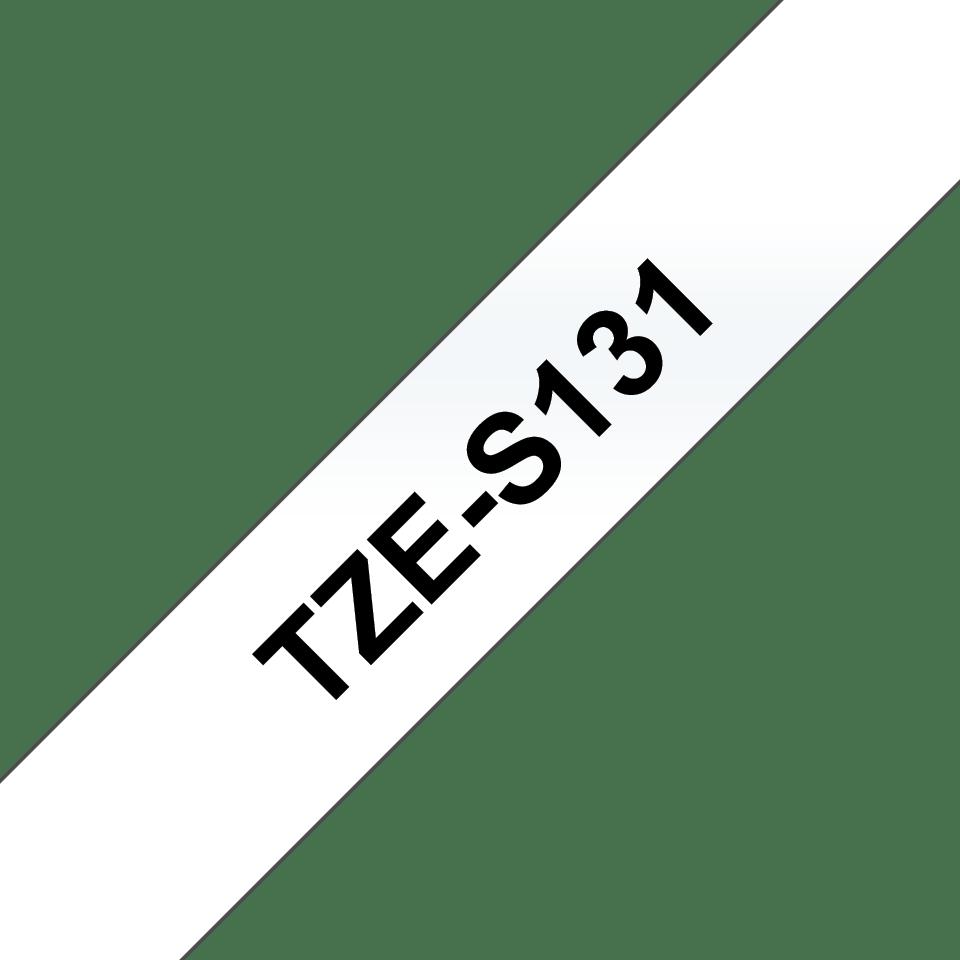 Casetă cu bandă de etichete originală Brother TZe-S131 – negru pe transparent, lățime de 12mm 3
