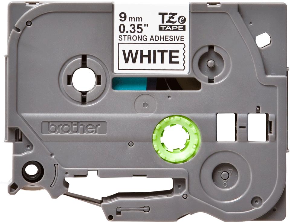 Casetă cu bandă de etichete originală Brother TZe-S221 – negru pe alb, lățime de 9mm 2