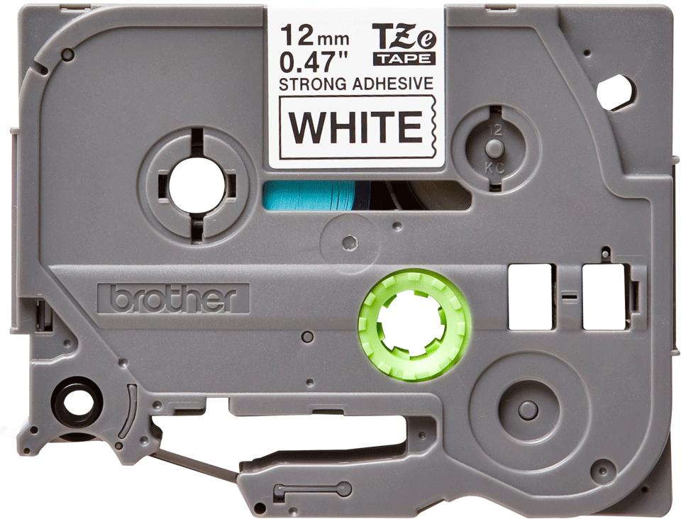 Casetă cu bandă de etichete originală Brother TZe-S231 – negru pe alb, lățime de 12mm 2