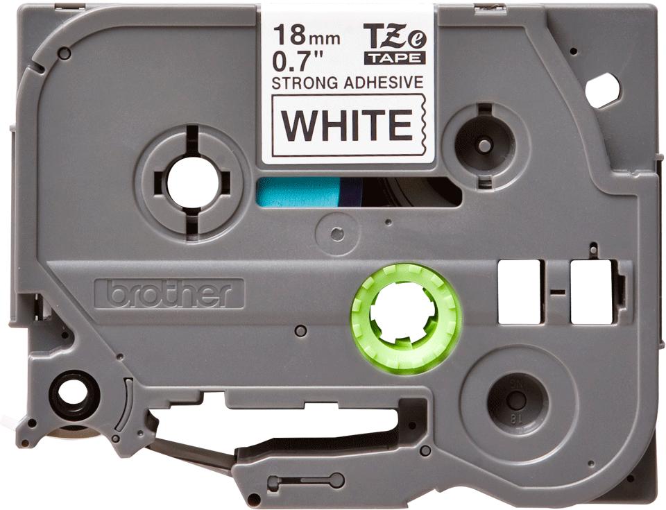 Casetă cu bandă de etichete originală Brother TZe-S241 – negru pe alb, lățime de 18mm