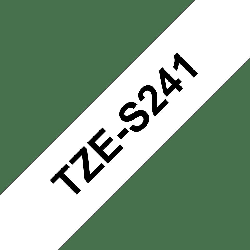 Casetă cu bandă de etichete originală Brother TZe-S241 – negru pe alb, lățime de 18mm 3