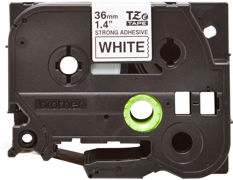 Casetă cu bandă de etichete originală Brother TZe-S261 – negru pe alb, lățime de 36mm