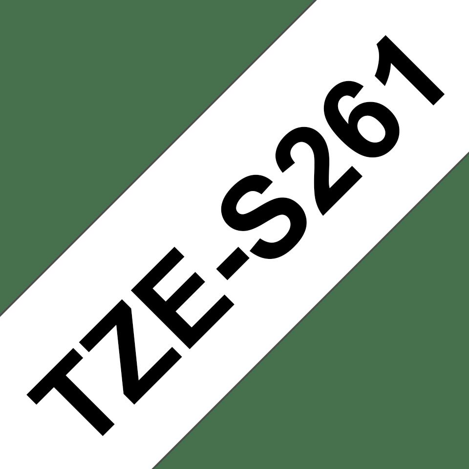 Casetă cu bandă de etichete originală Brother TZe-S261 – negru pe alb, lățime de 36mm 3