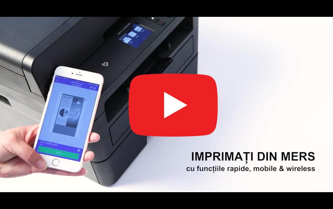 DCP-L2552DN  imprimantă compactă laser mono 3-în-1 cu rețea 4