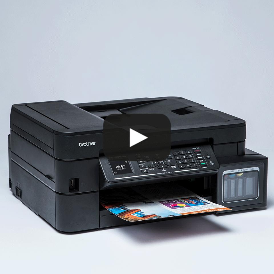 Imprimantă inkjet 4-în-1 cu wireless MFC-T910DW InkBenefit Plus de la Brother  9